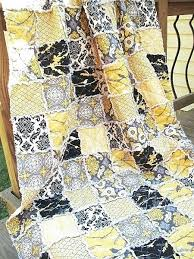 Grey And Yellow Comforters Black And Gray Quilts U2013 Boltonphoenixtheatre Com