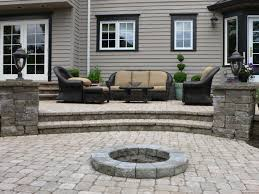 modern black exterior with hardscape patios design backyard can be