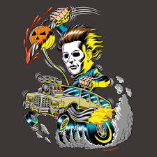 fright rags revs up new boogeyman buggy michael myers shirt