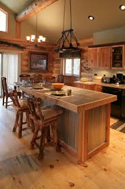 glass countertops log cabin kitchen cabinets lighting flooring