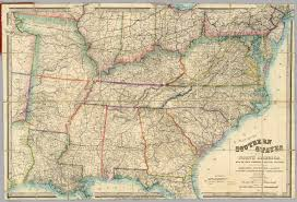 America Map With States by Map Of The Southern States Of North America David Rumsey