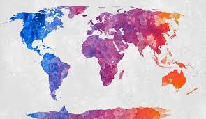 Beautiful World Map by World Map Abstract Acrylic