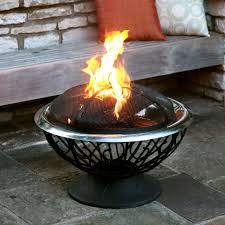 accessories fascinating black cast aluminum modern gas fire pit
