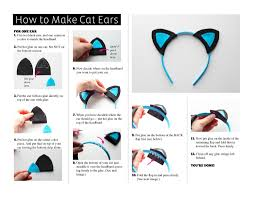 headbands for halloween how to make cat ears halloween costume girls diy pattern