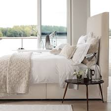 Fabric And Wood Headboards by High Fabric Headboard Cream Neutral Bedroom Home Sweet Home