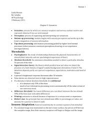 ap psychology chapter 5 outline sensations myer u0027s textbook