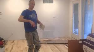 gluing prefinished solid hardwood flooring directly