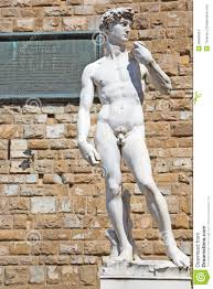statue of david by michelangelo in florence italy stock photo