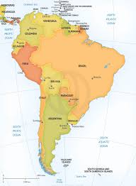 South America Map Capitals by Vector Map Of South America Graphics Creative Market