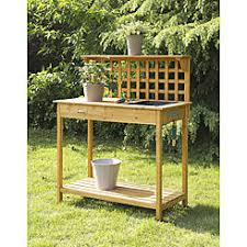 Outdoor Potters Bench Outdoor Garden Workstation Potting Bench