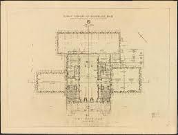 public floor plans public library 1910 building floor plans elevations digital