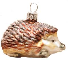 glass ornaments world hedgehog