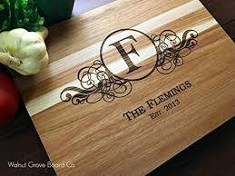 monogrammed anniversary gifts 21 best custom cutting boards 2018