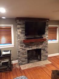 air stone fireplace makeover a little time consuming but well