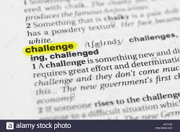 Challenge Dictionary Detail Of The Word Challenge Highlighted And Its Stock