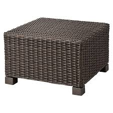 Target Wicker Patio Furniture by Belvedere Wicker Patio Ottoman Threshold Ottomans Patios And