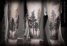 beautiful black ink trees on forearm tattooimages biz