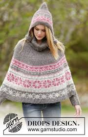 drops design poncho sweet winter poncho drops 164 6 free knitting patterns by