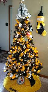Sports Ornaments Christmas Pittsburgh Steelers Christmas Tree Christmas Lights Decoration