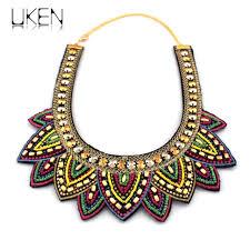 ethnic necklace aliexpress images Uken bohemia handmade choker necklace women bead sewing collar jpg