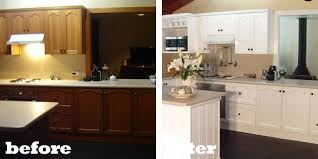 pictures of painted kitchen cabinets before and after painting dark wood cabinets before and after functionalities net