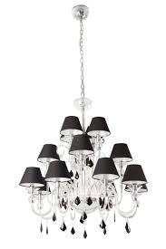 chandelier with black shade and crystal drops u2013 tendr me