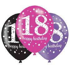 balloons for 18th birthday 6 x 18th birthday balloons black pink lilac party decorations age 18