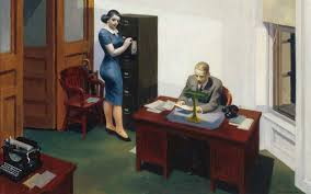 la nuit au bureau edward hopper tableaux d edward hopper edward hopper david hockney and paintings