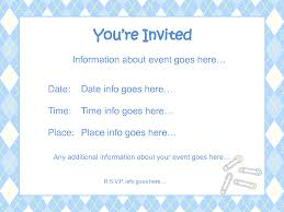 babyshower invitation template best template collection