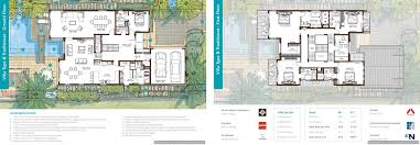 Villa Floor Plan by Floor Plans Sanctuary Falls Jumeirah Golf Estates Villas For