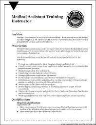 resume examples medical assistant resume sample for medical