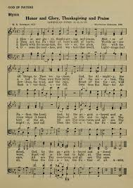 honor and thanksgiving and praise hymnary org