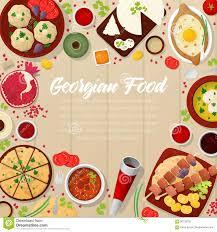 id d o cuisine georgian cuisine traditional food with khachapuri stock vector
