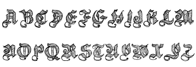 sketch gothic font comments