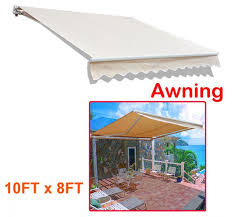 10 X 10 Awning Aosom Outsunny 10 U0027 Manual Retractable Patio Awning Cream