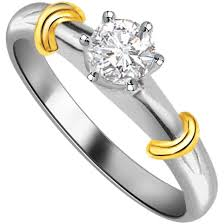 rings best price images 0 19 cts two tone solitaire diamond rings best prices n designs jpg