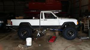 comanche jeep lifted axle swap and 37 u0027s on my comanche jeep