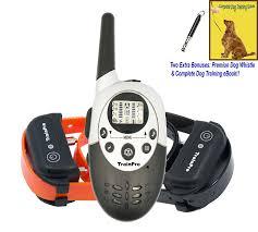 amazon com trainpro m86 dual 1100 yard shock collars for dog