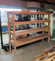 wood shelves plans garage wooden shelves plans for garage