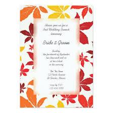post wedding brunch invitations bright fall leaves post wedding brunch invitation invitations 4 u