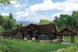 new farmhouse plans abundant picture windows in our new lodge style cedar height house