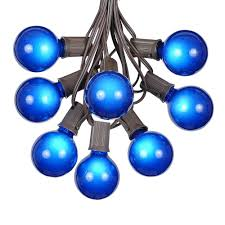 globe string lights brown wire 100 blue g50 globe string light set on brown wire novelty lights inc