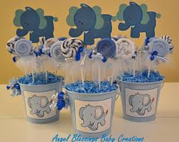 baby shower centerpieces boy elephant baby shower centerpiece etsy