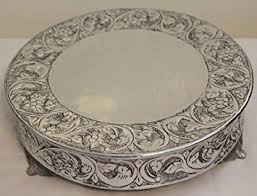 silver wedding cake stand 16 inch silver wedding cake stand plateau