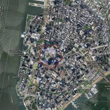 Pentagon Map 9 11 Site In Manhattan Overlaid With Great Pyramid Blue Pentagon