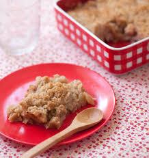 cuisine huile de coco crumble aux pommes et huile vierge de noix de coco sans lactose