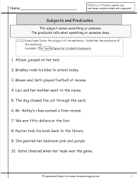Adverb Worksheets 2nd Grade Subject And Predicate Worksheet U2026 Pinteres U2026