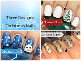 Christmas Light Nails by Three Designs Christmas Nails The Crafty Ninja