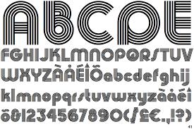 design lines font fontscape home appearance concentric lines multiline