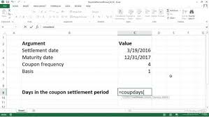 calculating days in the settlement date u0027s coupon period coupdays